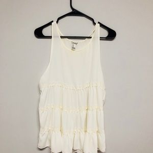 lace tiered tunic tank top
